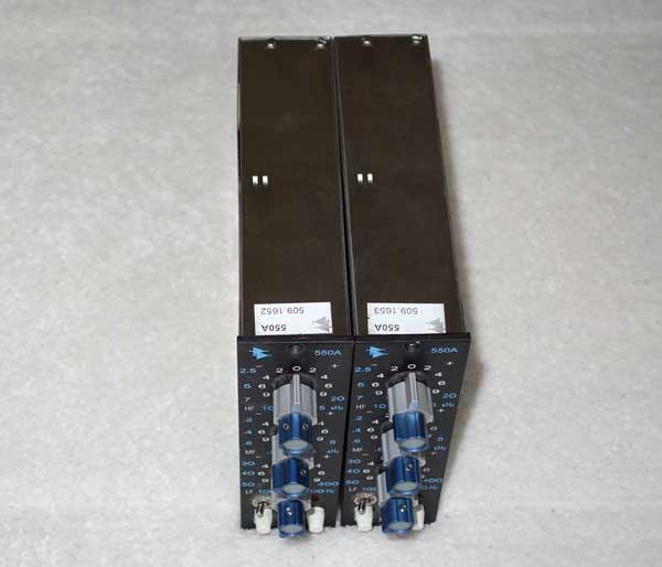API 550a EQ Module for 500 Series Racks and API 1608 Console