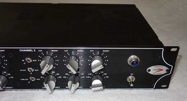 A Designs HM2EQ Hammer Dual-Channel Tube EQ w/12AT7 Tubes