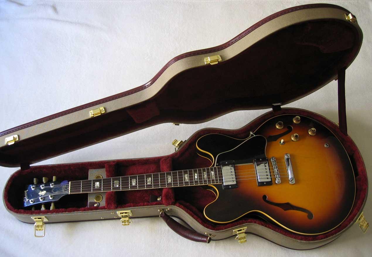 new ameritage ame 41 electric guitar case for gibson heritage epiphone es 335 es330 es225. Black Bedroom Furniture Sets. Home Design Ideas