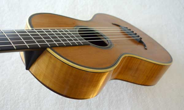 Mauchant 1830s Romantic Guitar by Mauchant [Paris, France] Restored by Lucio Nunez w/Soft Case