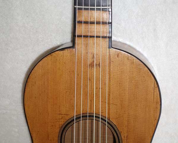 Mazarand Signed 1808 Romantic Guitar from Mirecourt, France, w/Original Case