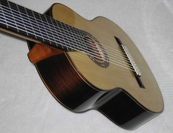 BARTOLEX SRS10 10-String Classical Harp Guitar, Spruce Top, w/ Hardshell  Case