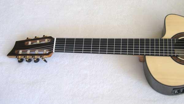 2010 Bartolex SRS7CEL 7-String Classical Harp Guitar Neck
