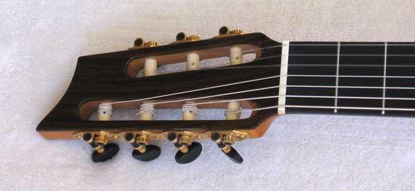 2010 Bartolex SRS7CEL 7-String Classical Harp Guitar Headstock