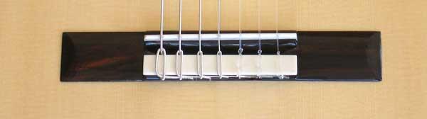 2010 Bartolex SRS7CEL 7-String Classical Harp Guitar Bridge