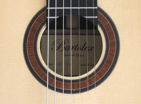 2010 Bartolex SRS7CEL 7-String Classical Harp Guitar Rosette