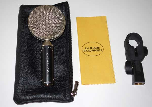 Cascade FAT HEAD BE (Bare Essentials) Ribbon Mic Factory Upgraded with Oliver Archut's AMI TR-42 Transformer w/ Soft Pouch, Clip