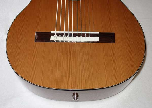 Cathedral Guitar 2015 Model 125CEL 10-String Classical Harp Guitar with Cutaway, Fishman Presys Pickup, Hardshell Case