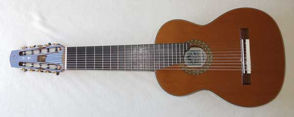 NEW Cathedral Guitar Model 15 Ten-String Classical Harp Guitar w/Hardshell Case [Cedar/Mahogany] Decacorde 10-String