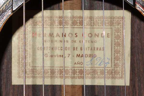 Vintage 1967 Conde Hermanos Classical Guitar (Spruce / Indian Rosewood) w/Case