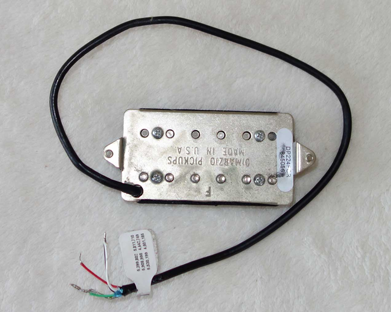DiMarzio AT-1 Andy Timmons Humbucking PUP 17K ? w/4-Conductor, F Spacing, Double Cream Covers, DP224