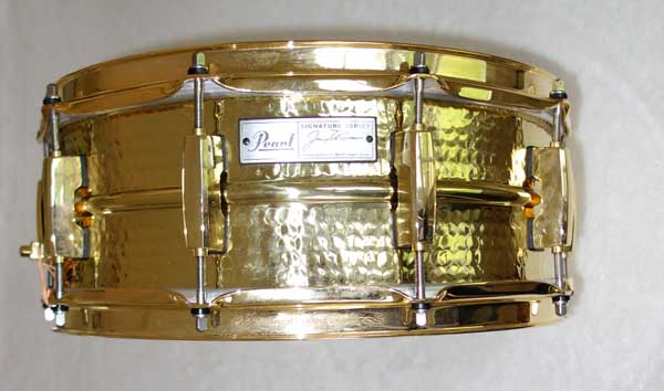 "Pearl JD1455 Gold-Hammered Jimmy DeGrasso Signature Snare 14"" x 5.5"""