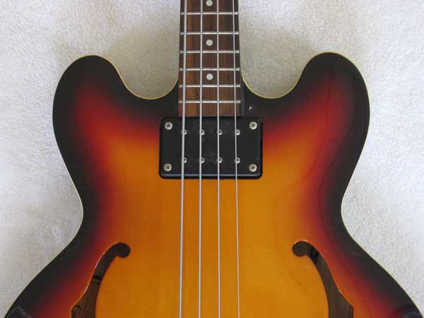 SUNBURST Epiphone Rivoli VC EB-0 Style Bass with Upgraded Dimarzio Model One Humbucker PU