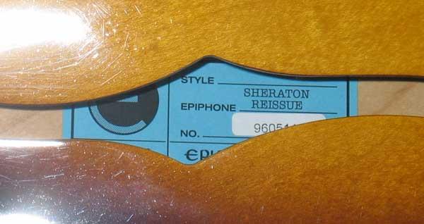 2005 Epiphone USA '64 Sheraton Reissue