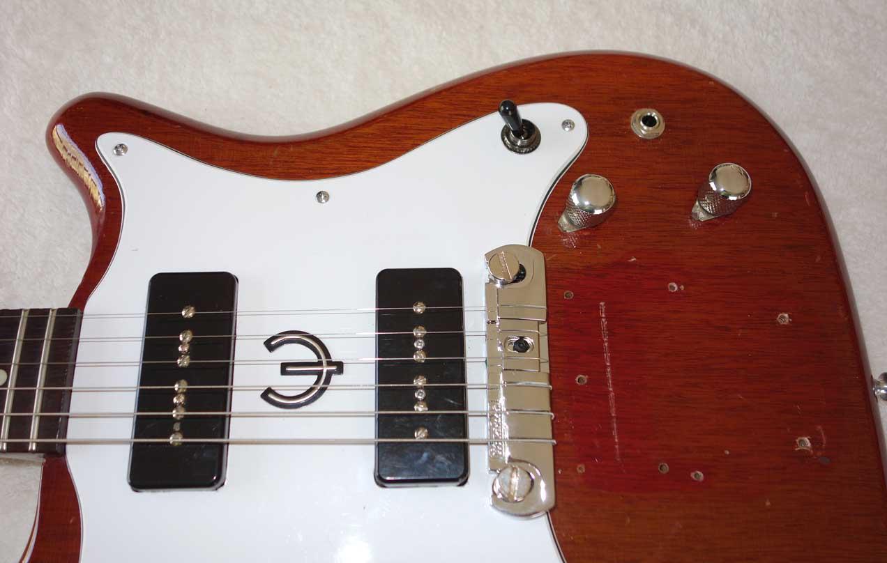 Vintage 1963 Epiphone Coronet Electric Guitar Modded to Wilshire w/2x DiMarzio P90 PUPs