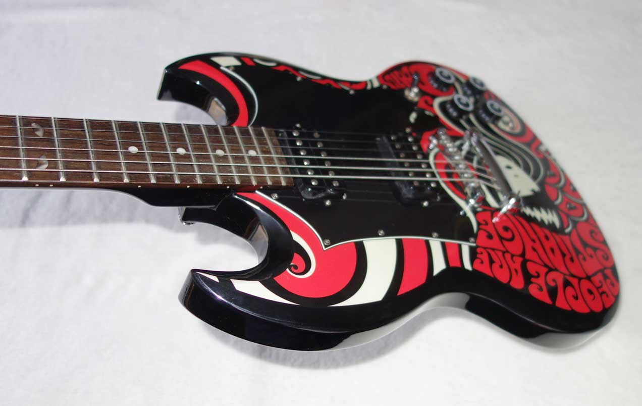 2005 Epiphone G-310 Emily The Strange Solid Body Guitar w/People Are Strange Custom Graphics