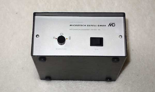 MicroTech Gefell UN920 Power Supply for UM92S Tube Condenser Mics