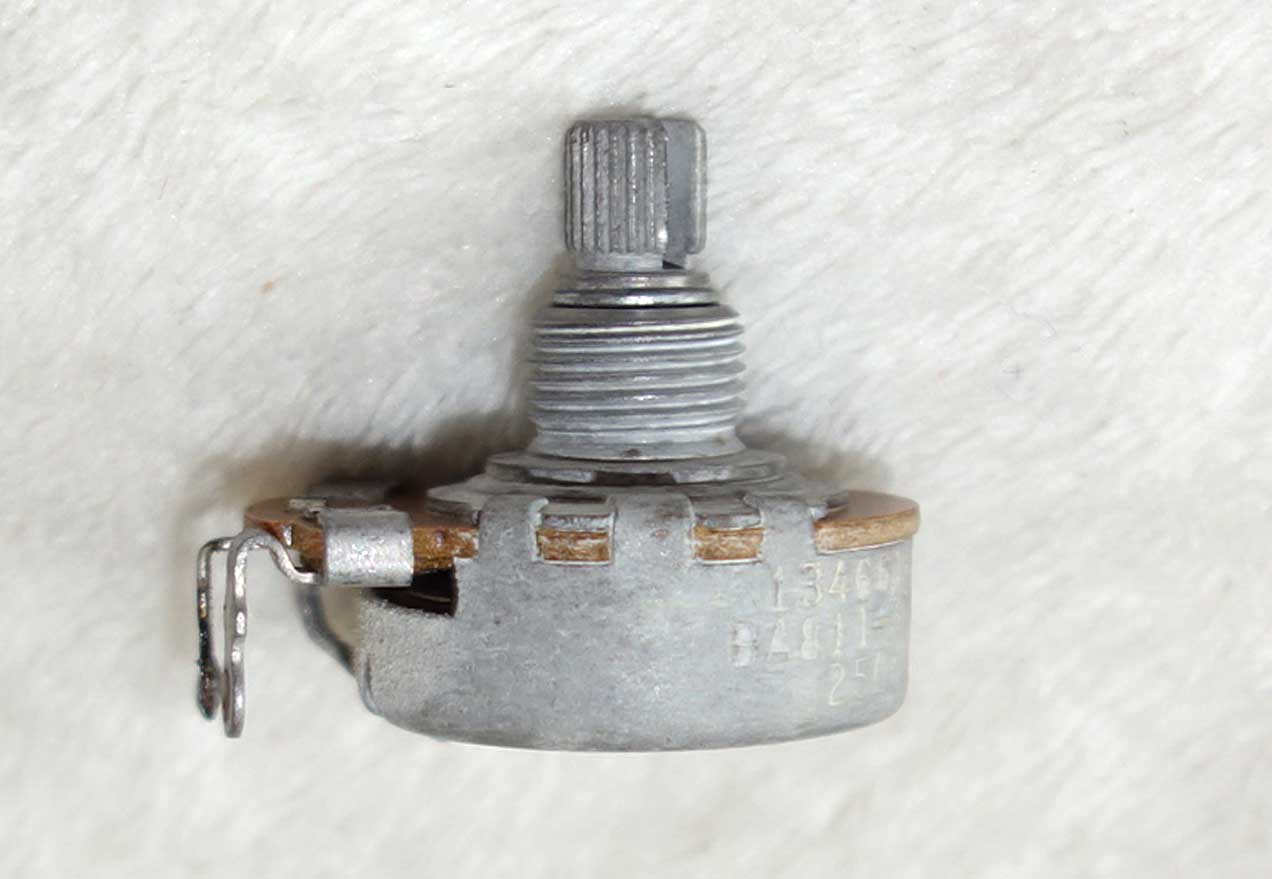 Vintage 1966 Gibson Centralab 250k Pot (260k ?) w/6615 Date Code: Week 16 of '66 w/Nut + 2x Washers
