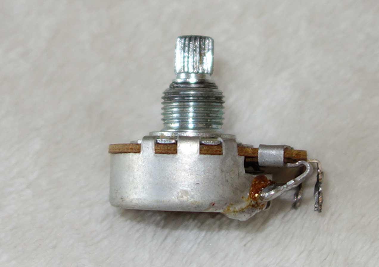 Vintage 1965 Gibson Centralab 500k Pot (448k ?) w/6530 Date Code: Week 30 of '65 w/Nut + 2x Washers