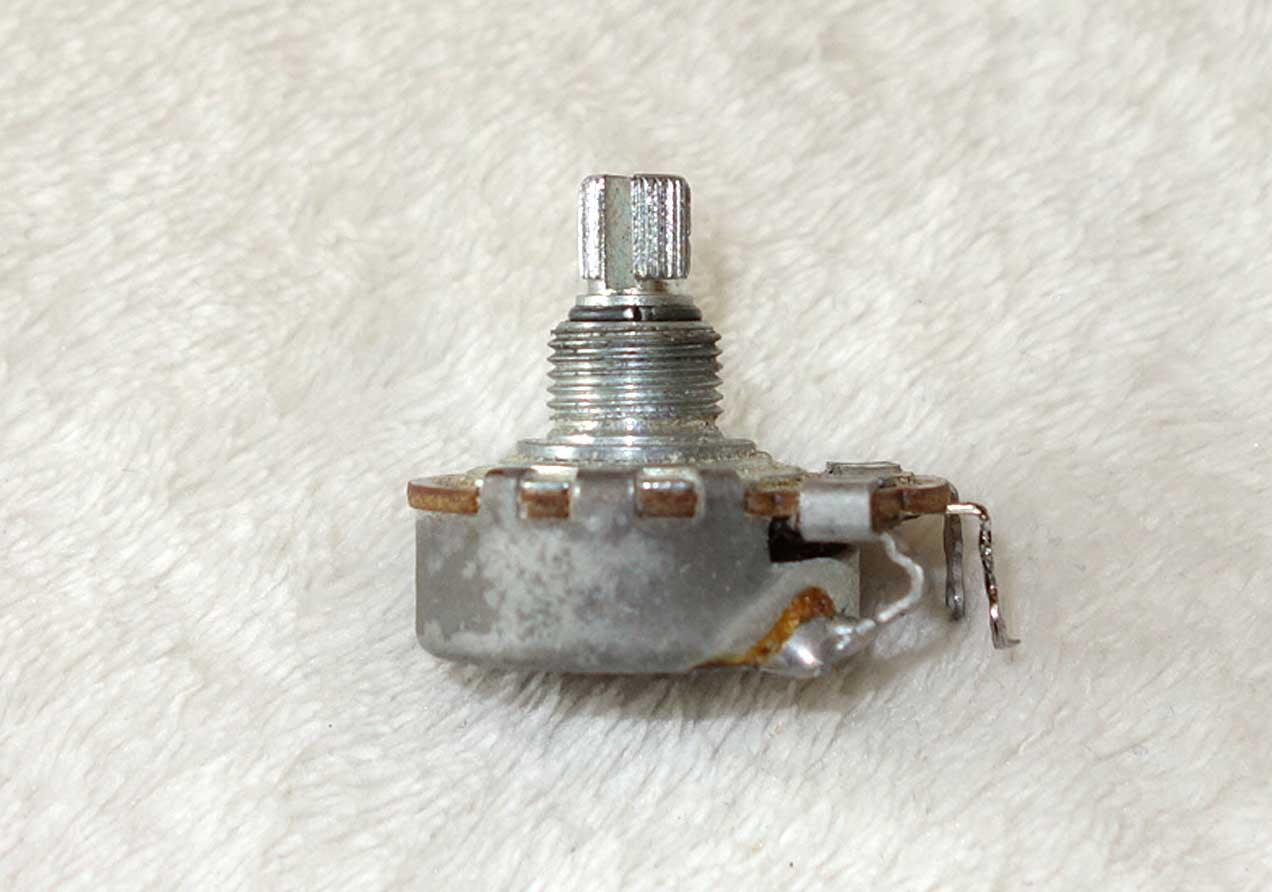 Vintage 1965 Gibson Centralab 500k Pot (462k ?) w/6548 Date Code: Week 48 of '65 w/Nut + 2x Washers