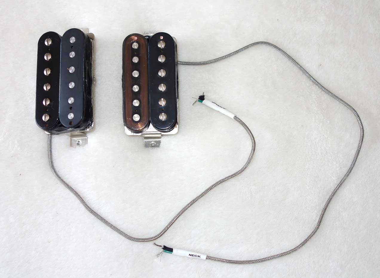 Used Set of Gibson 490R / 498T Humbucking Pickups, w/o Covers, w/Clear Neck Bobbin!!