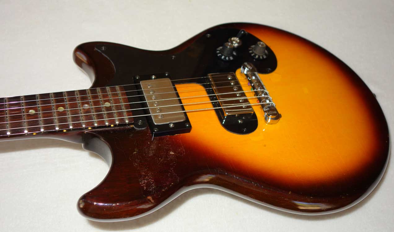 Vintage 1965 Epiphone Olympic Special / Gibson Melody Maker w/'57 Classics HB Mod, Tele Side-Mount Jack