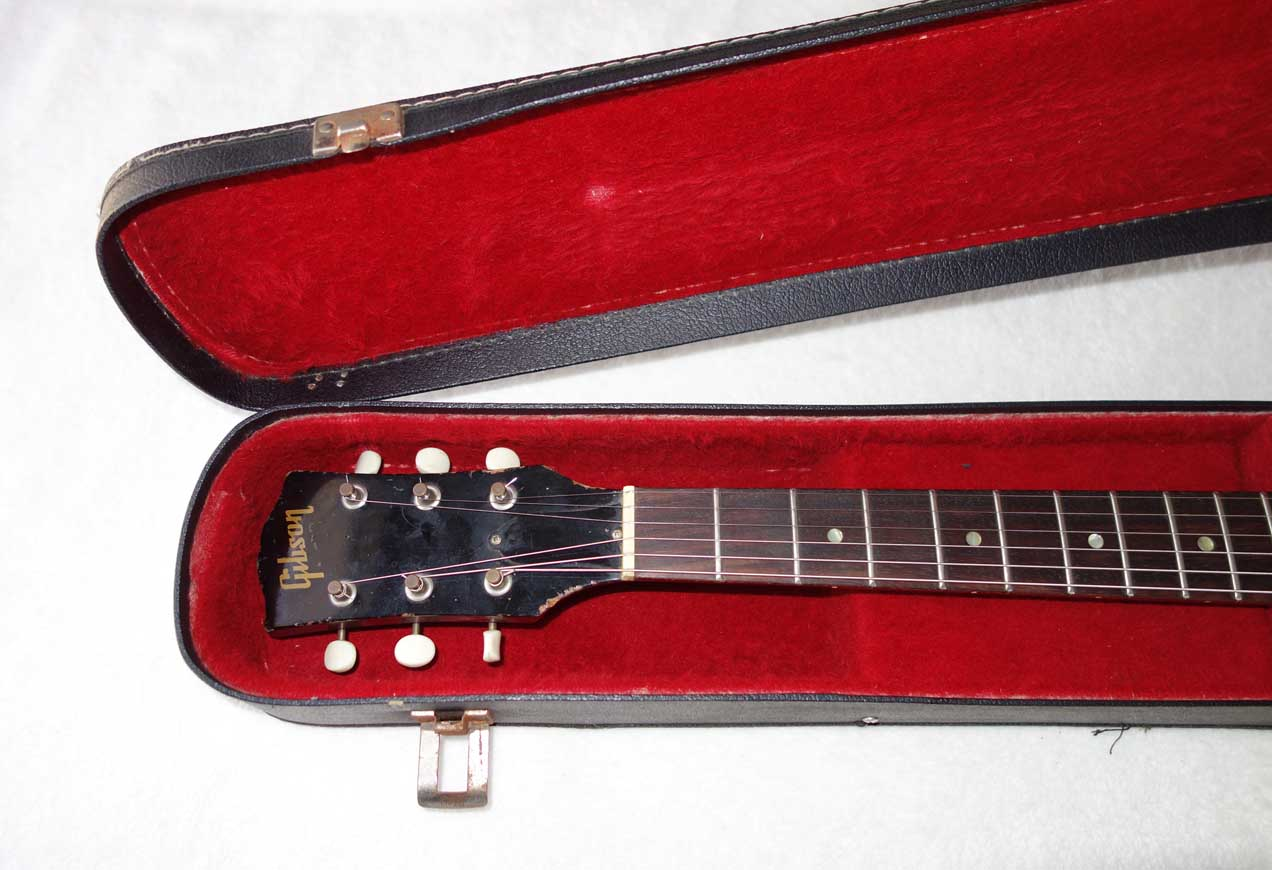Vintage 1960s GIBSON SG Arched Softshell Guitar Case w/Red Lining, For 1960s Gibson SG Junior Guitars