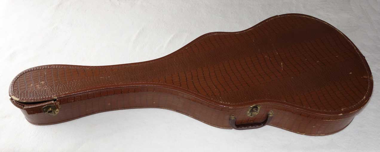 Vintage 1960s GIBSON Alligator Guitar Case w/Red Lining, Gibson Name Plate