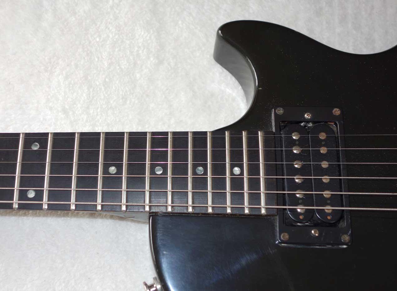 1984 Black Knight Custom Ebony FB, Super Tune Vibrola
