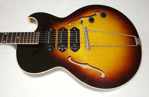 VINTAGE 1959 Gibson ES-225 Guitar, w/3x Rio Grande Dawgbucker PUs, 6-Way FreeWay PU Selector Switch, Ameritage Case