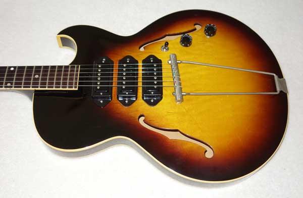 VINTAGE 1959 Gibson ES-225 Guitar, w/3x Rio Grande Dawgbucker PUs, 6-Way FreeWay PU Selector Switch, Ameritage Case