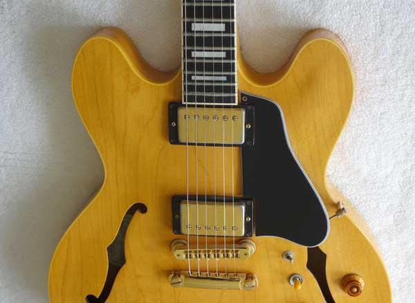 Vintage 1984 Gibson ES-347 Thinline Elecric Guitar w/Hardshell Case, Natural Finish