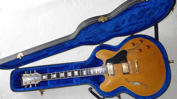 Vintage 1984 Gibson ES-347 Thinline Elecric Guitar w/Hardshell Case, Natural Finish