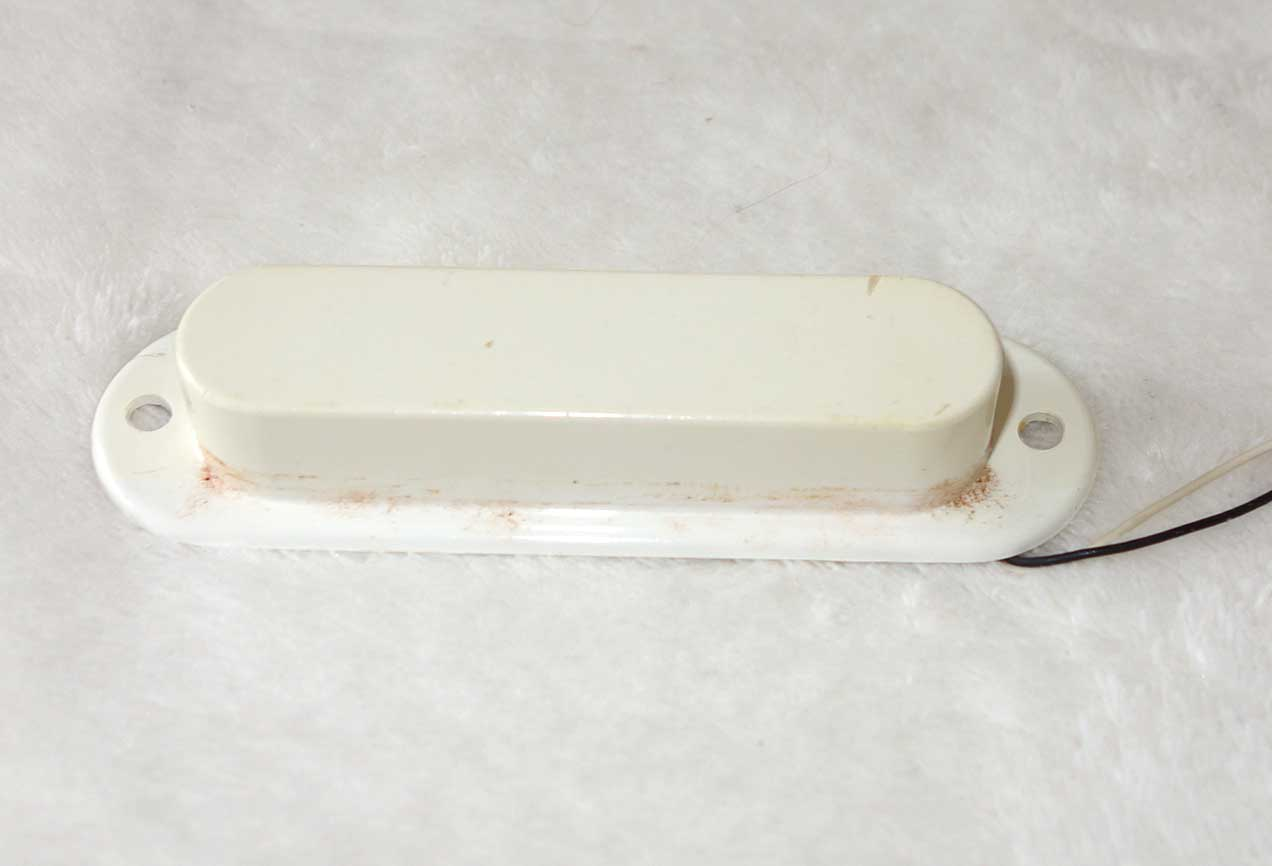 Vintage 1965 Gibson MELODY MAKER Neck Pickup 7.05K w/White Cover, Mounting Plate, Mounting Screws, Washers