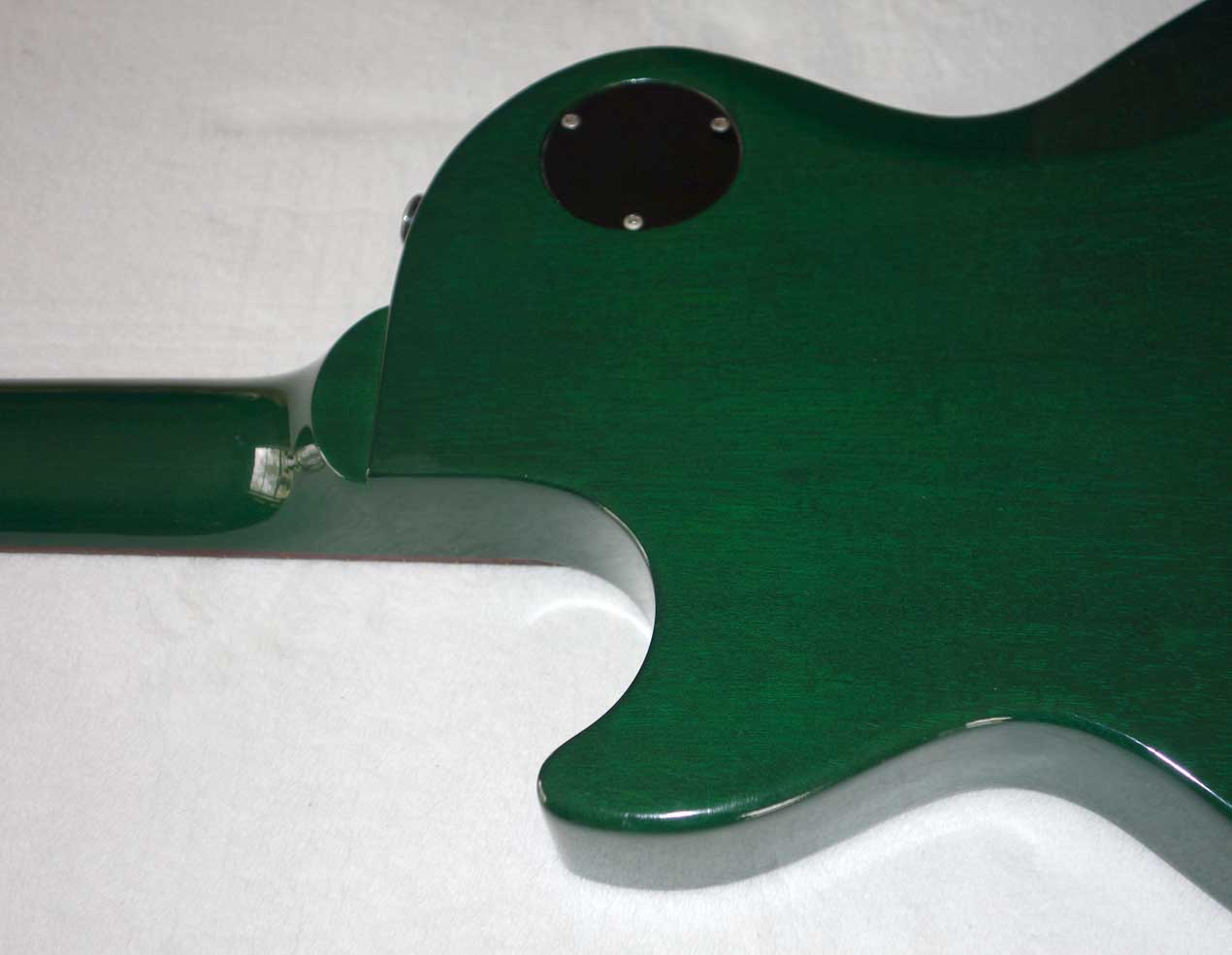 Used 1998 Gibson Les Paul Junior Special w/Rare Translucent Green Finish, Softshell Gig Bag