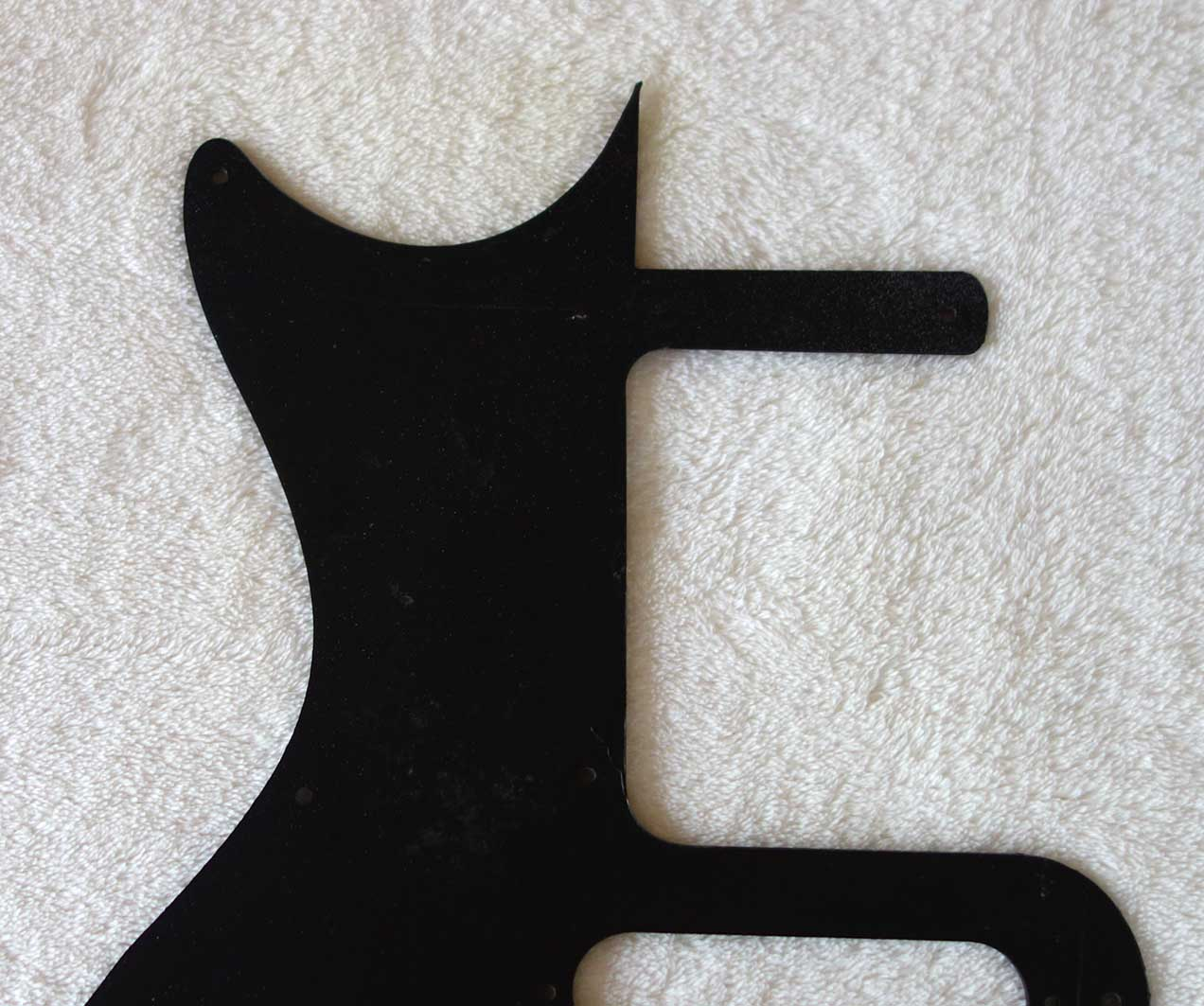 Aftermarket Gibson Melody Maker 1 PU Pickguard w/White Lettering for Vintage 1960-1963 MMs