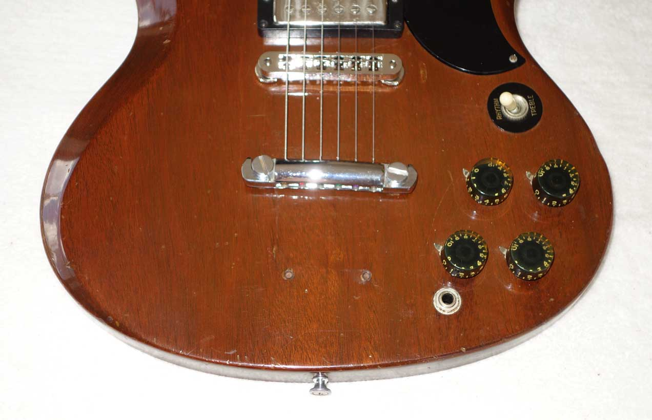 Vintage 1972 Gibson SG Special Solid Body Guitar, Walnut, Modded for HB '57 Classics