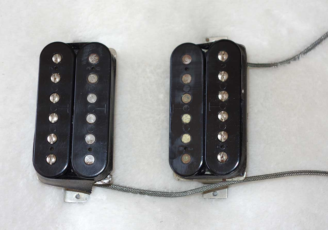 Vintage 1980 Gibson T Top Pickup Set, Matched Pair, Both at 7.7K ?, Double Ts, 40 Years in 1-Guitar