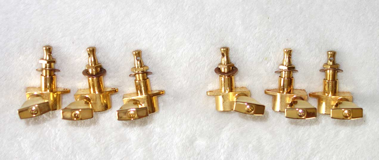 Genuine Gibson / Grover GOLD Tulip Keystone Tuners from 2004 Gibson Les Paul Custom