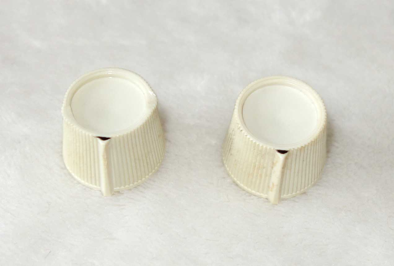 Vintage 1965 Kalamazoo 2x White Knob Matched Set, for KG-1 and KG-2 Solid Body Electrics