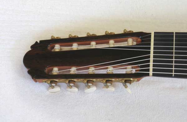 Lucio Nunez / Cathedral Guitar 10-STring Conversion of a 1972 Masaru Kohno Model 15 Classical Guitar, Brazilian