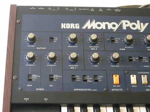 Vintage KORG MonoPoly Analog Synthesizer