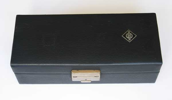 VINTAGE 1970s Neumann U87 Original Leather Case