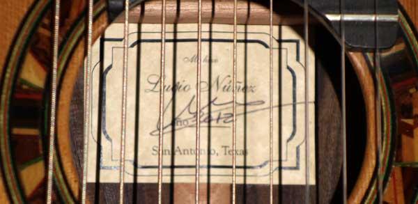 2012 Lucio Nunez 10-String Classical Harp Guitar, Rubner Tuners, Ameritage Case