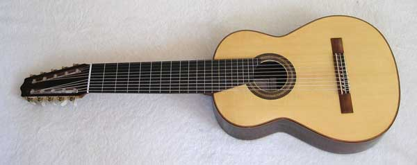 2004 Lucio Nunez 10-String Classical Harp Guitar