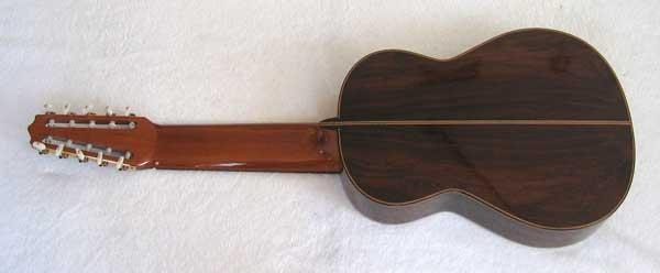 2004 Lucio Nunez 10-String Classical Harp Guitar Back