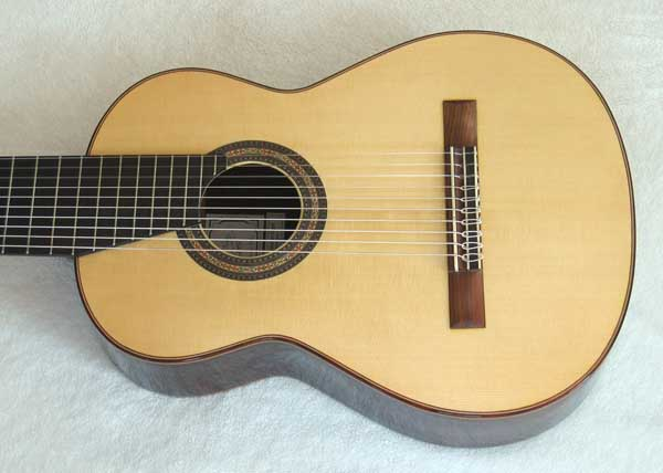 2004 Lucio Nunez 10-String Classical Harp Guitar Spruce Top
