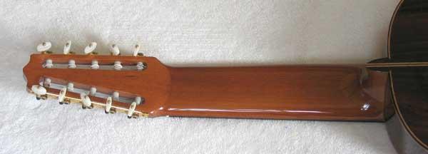 2004 Lucio Nunez 10-String Classical Harp Guitar Neck