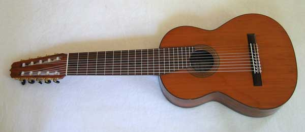 VINTAGE 1972 Ramirez 1a 10-string Classical Harp Guitar w/Case [BBand Pickup, Cedar Top]