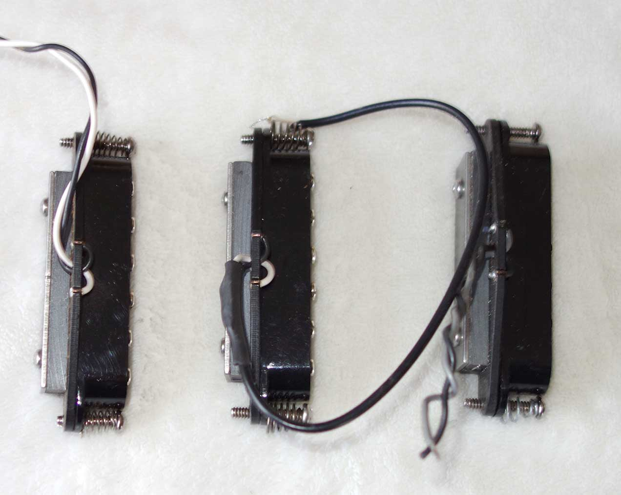 2013 Rio Grande DIRTY HARRY Strat Pickup Set w/P90 Character, Black, 3x PUPS